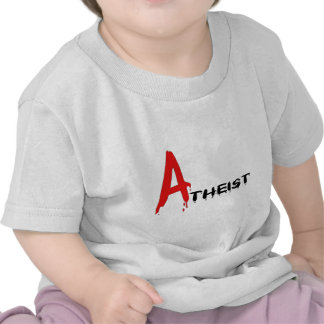 Ateo del escarlata camiseta