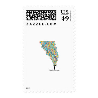 Ateo del paraguas sello postal