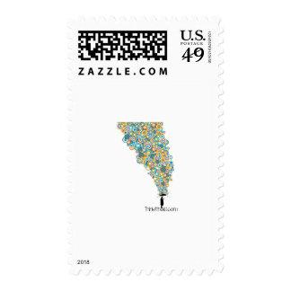 ateo del paraguas timbre postal