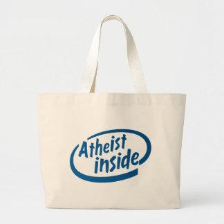 Ateo dentro bolsa de mano