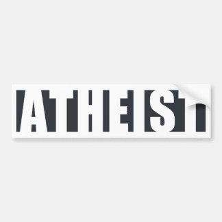 Ateo dentro etiqueta de parachoque