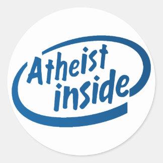 Ateo dentro etiquetas redondas