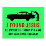 Ateo divertido encontré a Jesús Postales