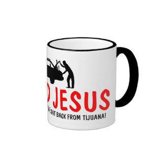 Ateo divertido encontré a Jesús Taza