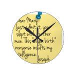 Ateo divertido reloj