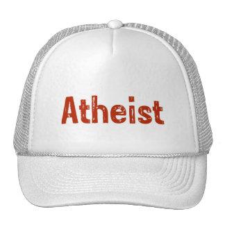 Ateo en rojo gorras