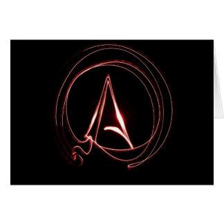 Ateo en rojo tarjeta de felicitación