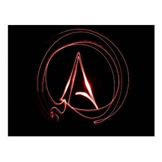 Ateo en rojo tarjeta postal