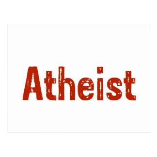 Ateo en rojo tarjetas postales