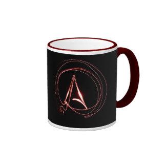 Ateo en rojo taza de dos colores