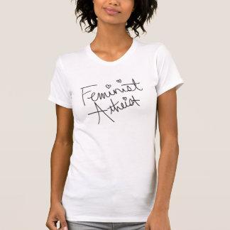 Ateo feminista camiseta