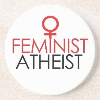 Ateo feminista posavasos cerveza