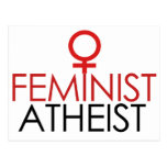 Ateo feminista postal