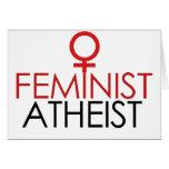 Ateo feminista tarjetón