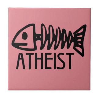 Ateo fósil azulejo cuadrado pequeño