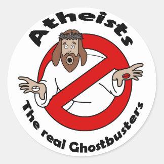Ateo Ghostbusters Pegatina Redonda