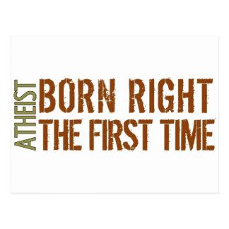 Ateo: La derecha nacida la primera vez Tarjeta Postal