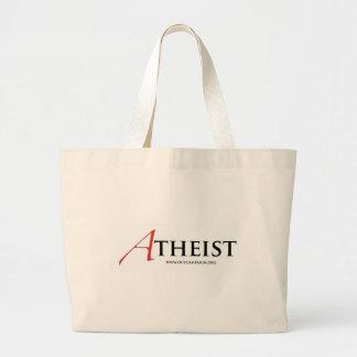 Ateo (letra escarlata) bolsa lienzo