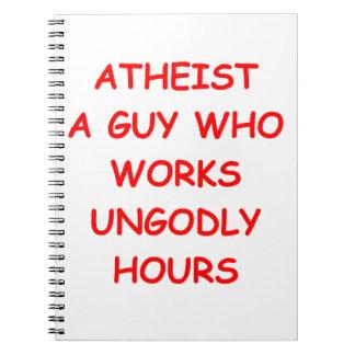 ateo libro de apuntes con espiral