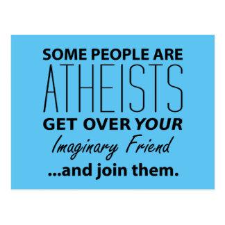 Ateo militante: ¡Alguna gente es ateos! Postal