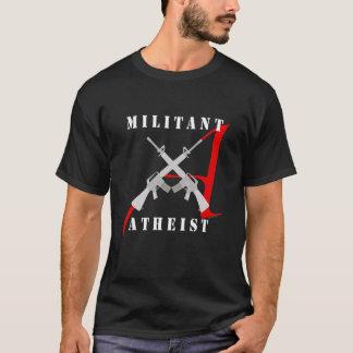 Ateo militante (camisa oscura) playera