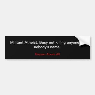 Ateo militante pegatina para auto