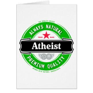 Ateo natural tarjeta de felicitación