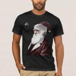 Ateo - navidad de Darwin como Papá Noel Playera