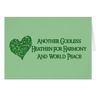 Ateo para la paz de mundo felicitacion