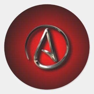 ateo pegatinas redondas