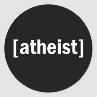 [ateo] pegatina redonda