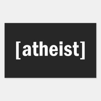 [ateo] pegatina rectangular