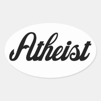 Ateo Pegatina Ovalada