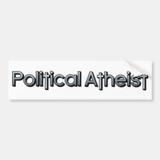 Ateo político pegatina para auto