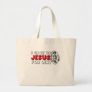 Ateo prestado bolsa tela grande