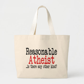 Ateo razonable bolsa tela grande