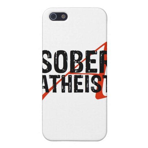 Ateo sobrio iPhone 5 funda