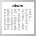 ateos notables, ateos impresiones