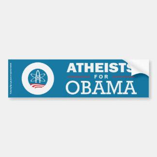 Ateos para Obama Pegatina Para Auto