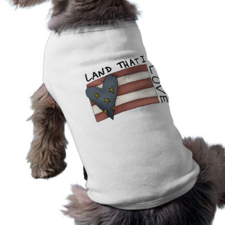 Aterrice que amo la camisa del perro playera sin mangas para perro