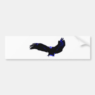 Aterrizaje americano de Eagle calvo Etiqueta De Parachoque