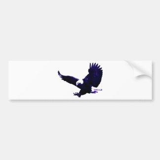 Aterrizaje americano de Eagle calvo Pegatina De Parachoque