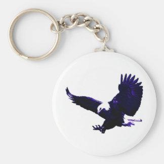 Aterrizaje americano de Eagle calvo Llavero Redondo Tipo Pin