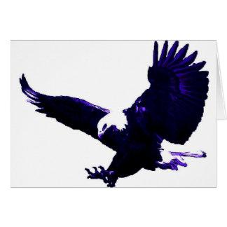 Aterrizaje americano de Eagle calvo Tarjeta De Felicitación