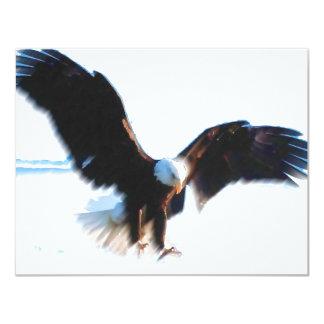 """Aterrizaje calvo de American Eagle Invitación 4.25"""" X 5.5"""""""
