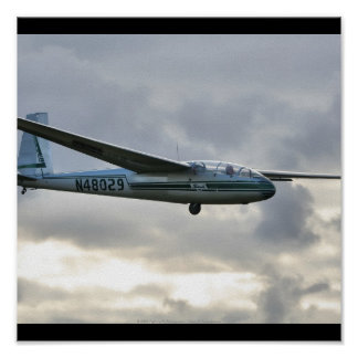 Aterrizaje de Blanik Sailplane Póster