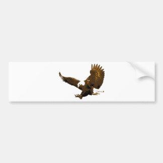 Aterrizaje de Eagle calvo Pegatina De Parachoque