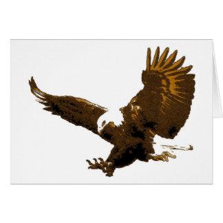 Aterrizaje de Eagle calvo Tarjeta De Felicitación
