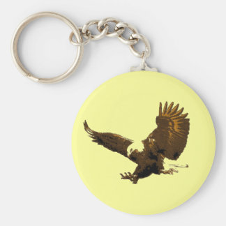 Aterrizaje de Eagle Llavero Redondo Tipo Pin