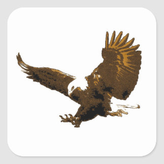 Aterrizaje de Eagle Pegatina Cuadrada